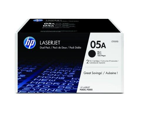 Preisvergleich Produktbild HP 05A Original Toner (geeignet für HP LaserJet P2035, HP LaserJet P2055) 2er Pack, schwarz