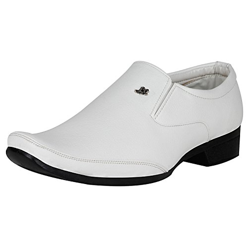 Kraasa Men's White Synthetic Formal Shoes – …, INR 1,299.00