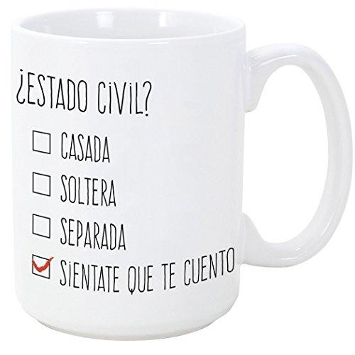 Tazas desayuno originales y divertidas - ¿Estado civil? - 350 ml - Ta