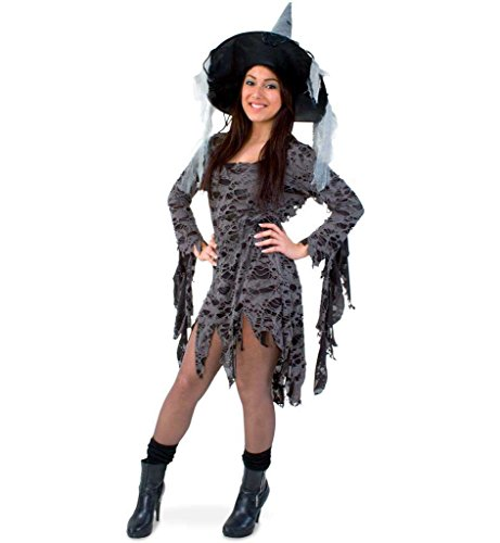 Voodoo Queen, Damenkostüm, Hexenkostüm (Voodoo Puppe Kostüm Zubehör)