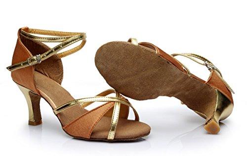Vesi - Donna Scarpe da Ballo Latino/Sala da Ballo/Standard Tacco 5cm/7cm Beige