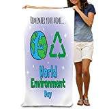 Unisex Beach Towels Bath Towels For Teen Girls Adults Travel Towel Washcloth 31x51 Inches world environment day concept design banner greeting card world environment day earth globe splashes