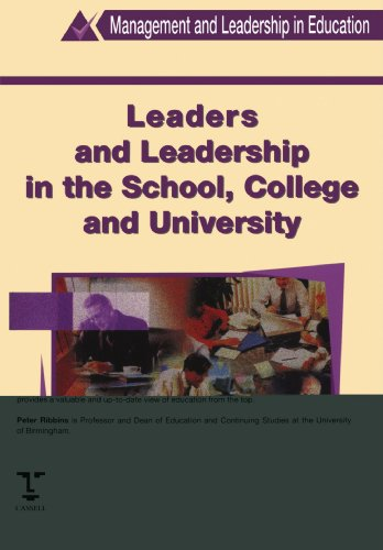 Leaders and Leadership in Schools (Management & Leadership in Education)