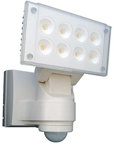Preisvergleich Produktbild Design LED Strahler mit Bewegungsmelder | Aluminium Gartenbeleuchtung | Aussenleuchte mit Sensor