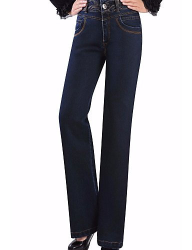 TT&NIUZAIKU Femme Taille Haute Ample Pantalon Couleur Pleine blue