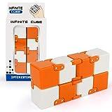 Tuelip Infinite Cube Fidget Toy for Kids & Adults Orange