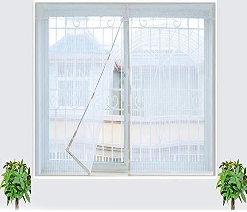 Tomkity zanzariera magnetica bianco 100x140cm per porte finestre chiusura automatica senza zanzare mosche insetti balcone finestre