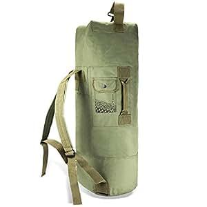 US borsone Duffle Bag Sacca con doppia tracolla in molti colori, oliva
