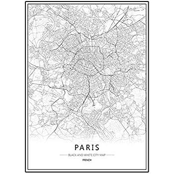 Nacnic Imprimer Plan De La Ville De Paris Style Scandinave