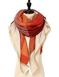 d5f111fc1c28cc Grandi Scozzese Sciarpa Donna Inverno - Tartan Plaid Oversize morbida  sciarpa calda coperta scialle