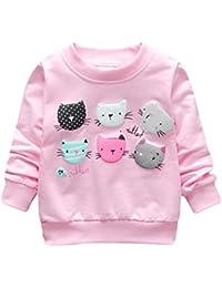 ESHOO Bébés filles Sweatshirts Dessin Animé en Coton Pull-over 1-4 ans