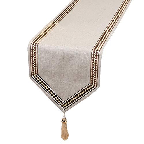 Chemin de table Chemin de table, nappe de table de literie pour les fournitures de mariage (Couleur : Brown, taille : 33×300cm)