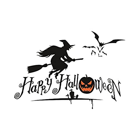 Décors Et Costumes Dhalloween - Witch Stickers Décoration pour Halloween, Moon mood®