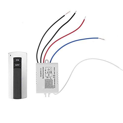 Interruptor de Mando a Distancia 1 Canal ON/Off 220V inalámbrico Digital Interruptor de Control Remoto para lámpara de luz