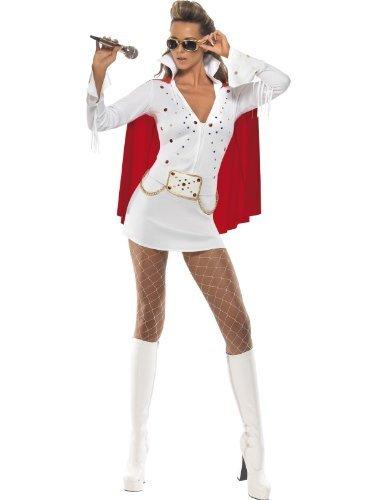 Weiblich Elvis Presley Kostüm Elvis Kräftiges Las Vegas kostüm UK Kleid 12-14