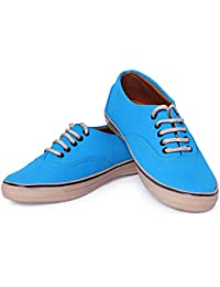 Mykon Blue Lace-up Casual Shoes For Mens - B07D23MBQX