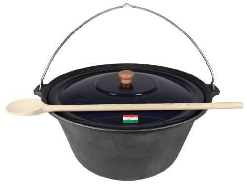 Grillplanet® Gulaschkessel Gusseisen 16 Liter mit Deckel