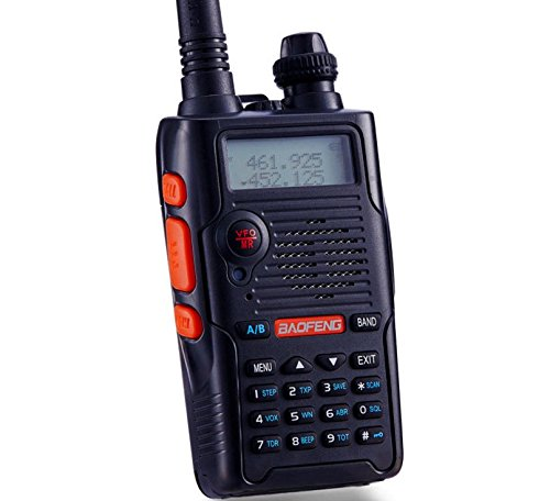Walkei Talkie UV-5R Upgrade Dual Band Two Way Radio with one more 1800mAh  UV5R Battery one Car Charge one Hand Mic  and one TIDRADIO NA-771 Antenna