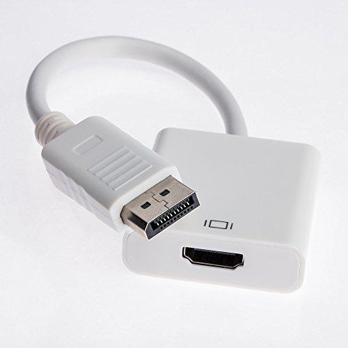 Pc-video-kabel (Displayport zu HDMI Adapter | DP Stecker zu HDMI Buchse Adapter Kabel Video Audio Konverter für PC Laptop)