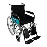 Folding and self-propelled wheelchair | Removable armrest and footrest | It includes legs raiser | Seat width: 45 cm | Maximum weight: 100 kg | Model: Partenon | Mobiclinic