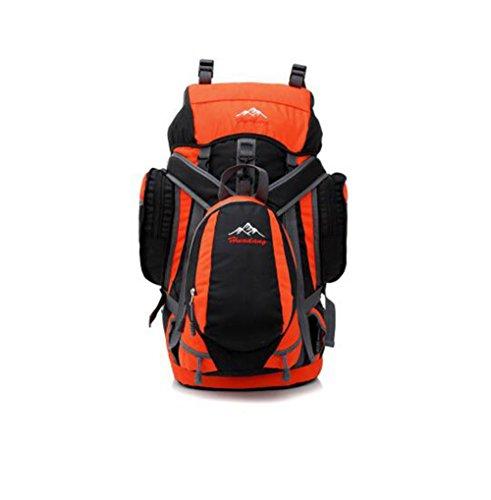 Wmshpeds Grande capacità professionale Borsa Alpinismo Outdoor Camping Escursionismo avanzato resistente all usura resistente allo strappo e zaino a spalla B