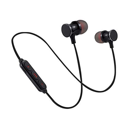 Ecouteurs Bluetooth Metal pour Motorola One Action sans Fil Telecommande Son Main Libre Intra-AURICULAIRE Universel (Noir)