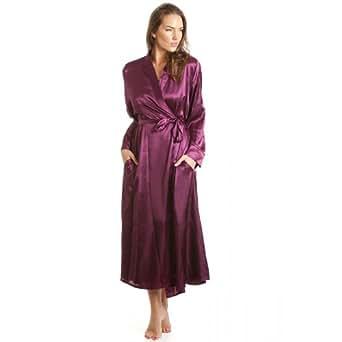 robe de chambre en satin femme violet tailles 38 52 38 40 camille v tements. Black Bedroom Furniture Sets. Home Design Ideas