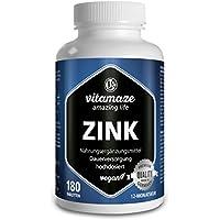 Comprimés de ZINC 25 mg végétalien pour 12 mois - meilleure biodisponibilité - produit de qualité Made-in-Germany sans stéarate de magnésium, 30 jours de reprise gratuite! 1er Pack (1 x 126 g)