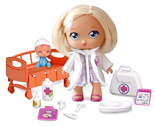 Barriguitas - Doctora en la Clínica, con 1 muñeca y 1 bebé paciente