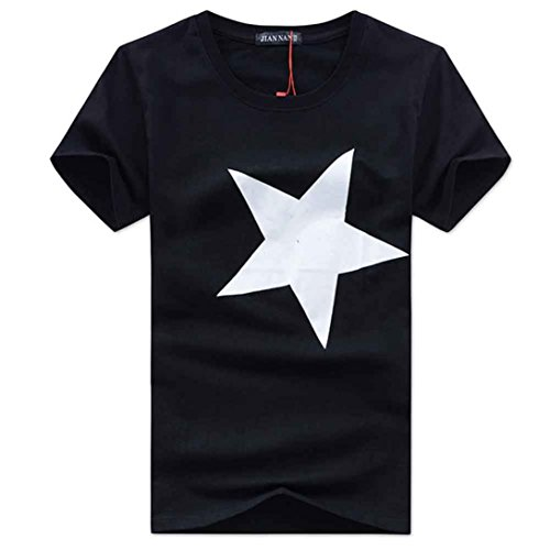QUINTRA Männer t-Shirts Gedruckt Mode Kurzarm Bluse Tops (T-shirt Youth Band Farbe)