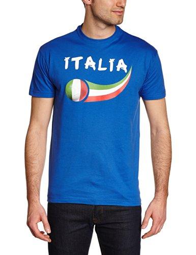 Supportershop Italia Calcio fan T-shirt. Uomo, blu,
