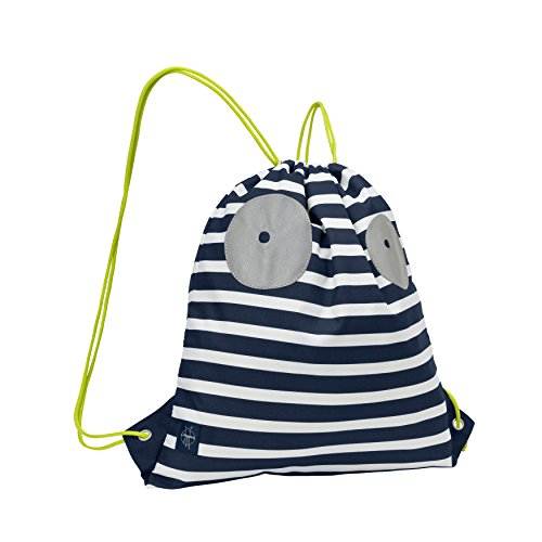 LÄSSIG Kinder Turnbeutel Junge mit Kordel und Rucksackfunktion Sportbeutel Schule Kindergarten / Mini String Bag, Little Monsters, Bouncing Bob