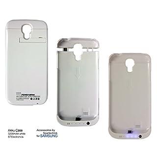 Akku Case für Samsung S4: Tasche - Hardcase mit integriertem Akkupack mit 3200mAh Akku Leistung für Samsung S4 I9500 S IV Tasche mit Ständerfunktion - Power Bank - Farbe weiss white
