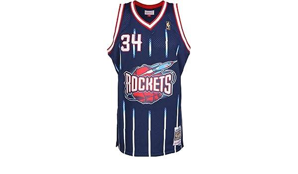 d38e89f0d Mitchell   Ness Hakeem Olajuwon  34 Houston Rockets 1996-97 Swingman NBA Jersey  Navy  Amazon.co.uk  Sports   Outdoors