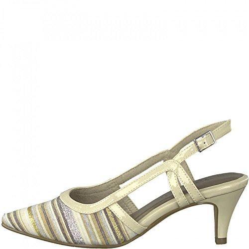 Tamaris Sling Pumps 1-29610-20 Glitzer Metallic-Look, Schuhgröße:41;Farbe:Beige