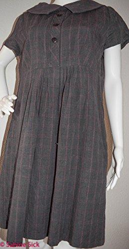 Zwei Leichte Streifen (Kleidchen mit Bubikragen..leichtes Karo mit ganz feinen Streifen. Bubikragen und Knopfleiste (Attrappe) das Kleid hat auf der Rückseite einen 60 cm langen Reißverschluss und zwei Nahtaschen)
