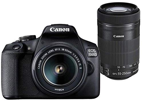 Canon EOS 1500D 24.1MP Digital SLR Camera (Black) with 18-55...