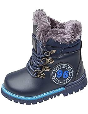 GIBRA® Winterboots für Kinder, mit seitlichem Reißverschluss, dunkelblau, Gr. 22-27