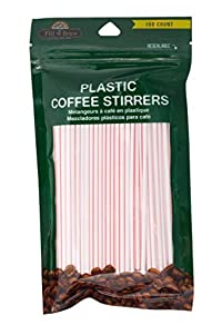 LaMi Plastic Coffee Stirrers, 150 Count, 3-pack (450 coffee stirrers)