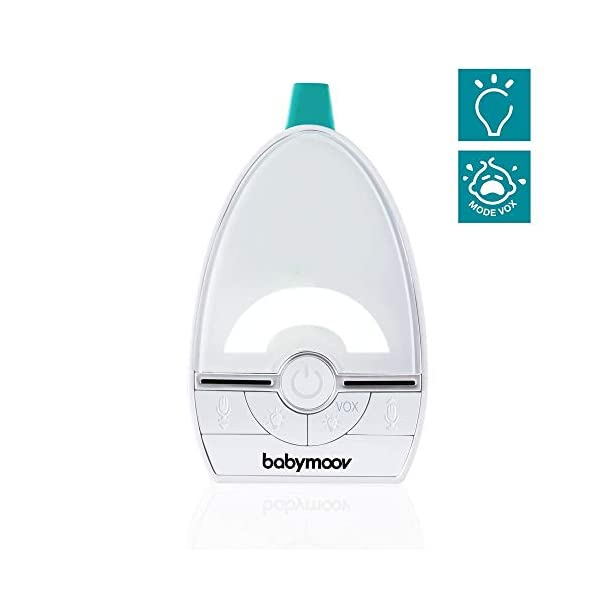 BABYMOOV Expert Care Compact Audio Monitor, 1000 m BABYMOOV Digital green technology: this innovation reduces wave emissions from your baby monitor and guarantees the longest range on the market. expert care has a 1000m range: ideal for an apartment/ house Essential functions: it has a 3-alert vex mode (visual, audio, or vibration), an out-of-range/ low battery alarm, and automatic channel search Night light included: expert care includes a night light in the baby unit. this audio baby monitor emits a soft, reassuring light in your baby's room 3