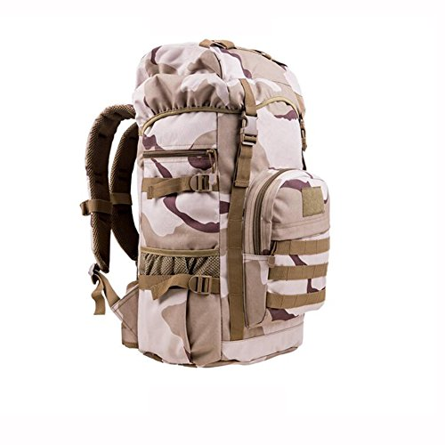 HQ Outdoor Backpack Mountaineering Bag Laptop Bag Travel 50L With Velcro Hiking Camping ( Color : 5 )