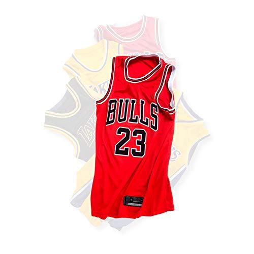 Basketball Fan Kostüm - HS--HUWENHUI Basketball League/Chicago Bulls # 23 Jordan Wettkampfanzug Sportweste Atmungsaktiv Freizeitkleidung Fan Kostüm,S170~175CM