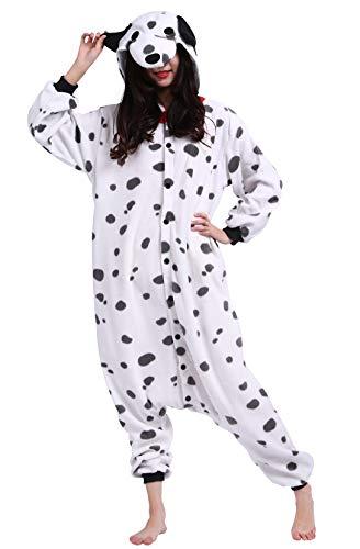 Jumpsuit Onesie Tier Karton Fasching Halloween Kostüm Sleepsuit Cosplay Overall Pyjama Schlafanzug Erwachsene Unisex Lounge Beschmutzter Hund for Höhe 140-187CM
