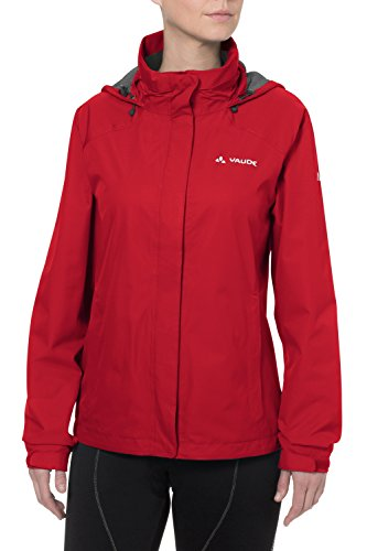 Vaude Escape Bike Light Veste imperméable Femme Teal rouge