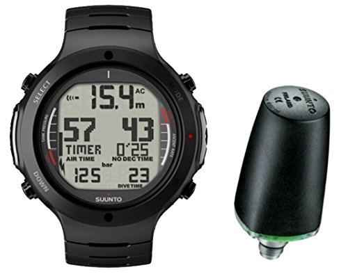 Suunto D6i ALL BLACK STEEL mit Sender Tauchcomputer