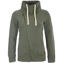 BLEND SHE Jasmin Damen Sweatjacke Kapuzen-Jacke Zip-Hood aus hochwertiger Baumwollmischung