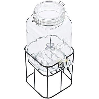 point virgule ados 212692 3 6l getr nkespender dispenser aus glas mit zapfhahn und einem. Black Bedroom Furniture Sets. Home Design Ideas
