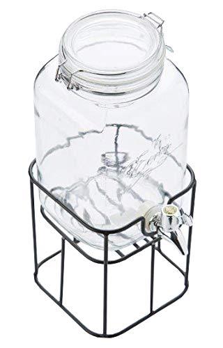 Un 'domo s-212692dispensador de bebidas con soporte de metal clásica de vidrio