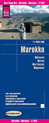 Reise Know-How Landkarte Marokko (1:1.000.000): world mapping project