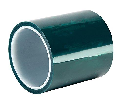TapeCase 594L-14 cm x 72 YD grün Polyester/Silikon Klebeband mit Liner, 2,9 m Länge: 14 cm Polyester Liner